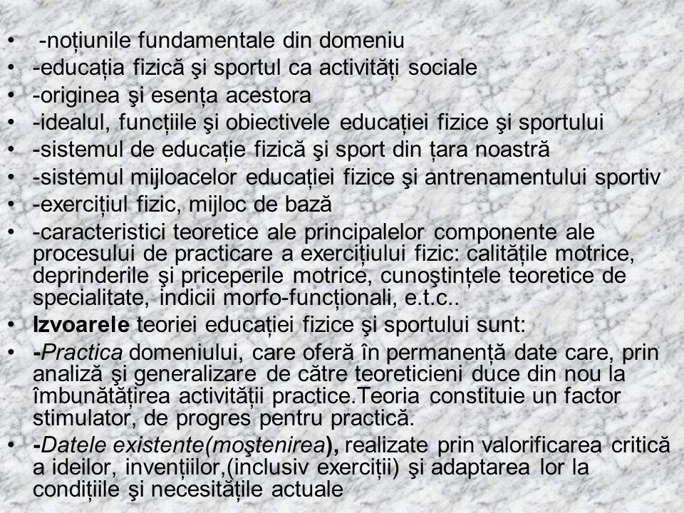 -noţiunile fundamentale din domeniu