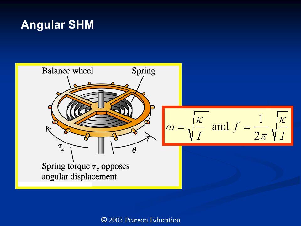 Angular SHM © 2005 Pearson Education