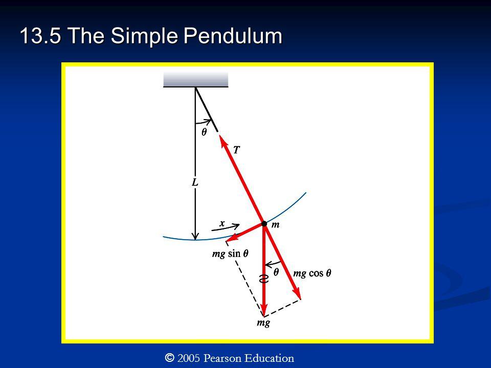 13.5 The Simple Pendulum © 2005 Pearson Education