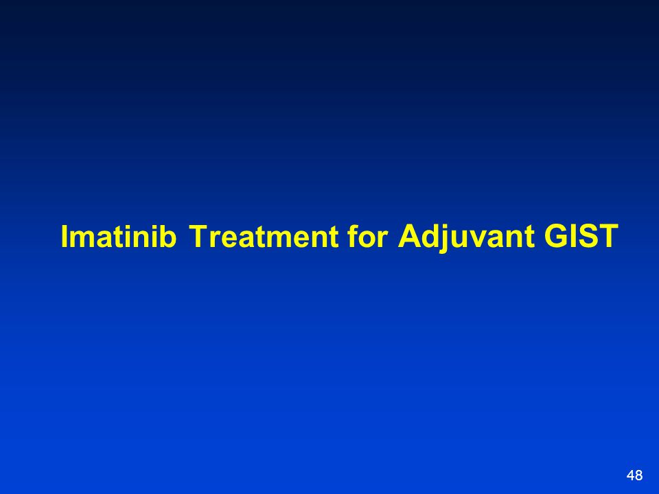 Imatinib Treatment for Adjuvant GIST