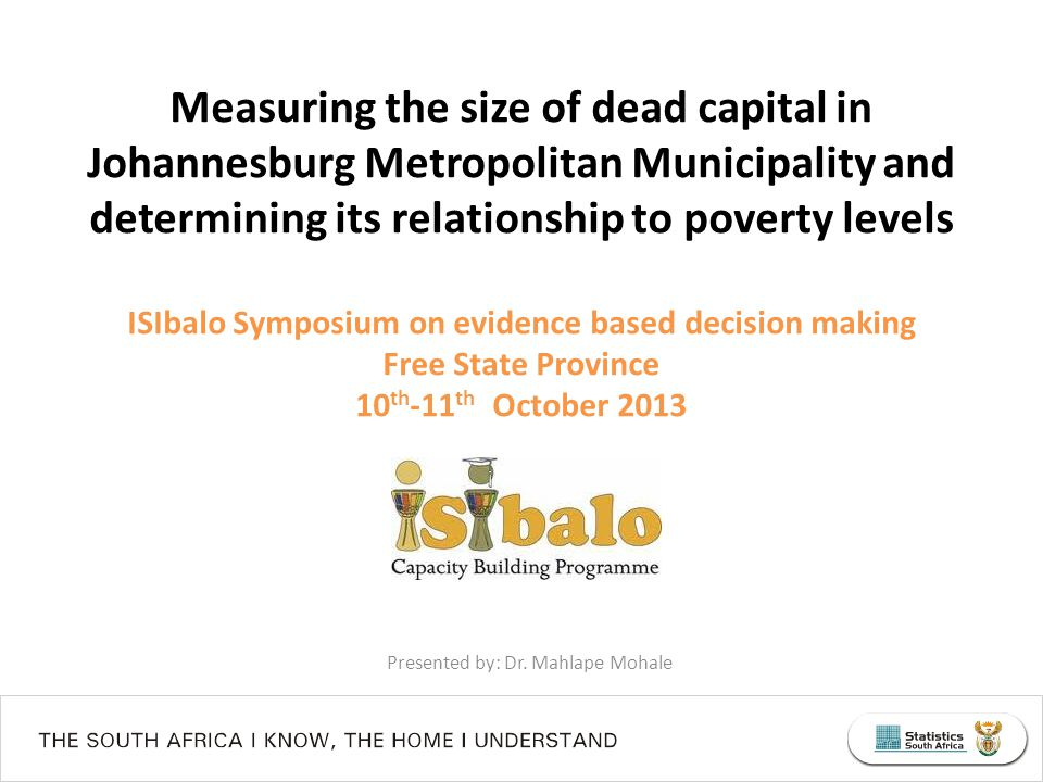 Presented by: Dr. Mahlape Mohale