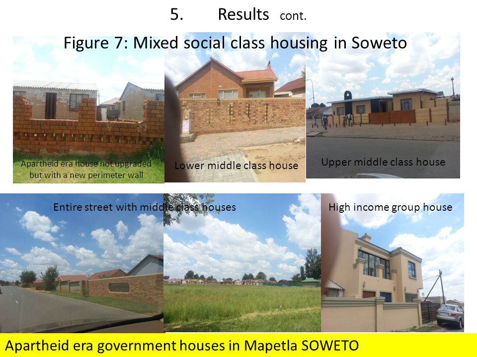 Figure 7: Mixed social class housing in Soweto