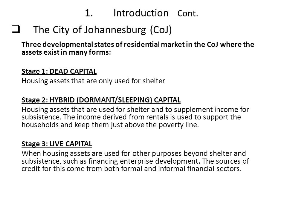 The City of Johannesburg (CoJ)