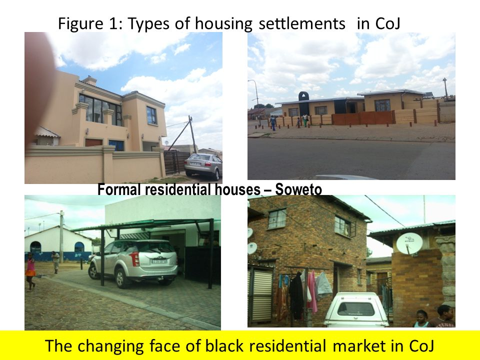 Formal residential houses – Soweto