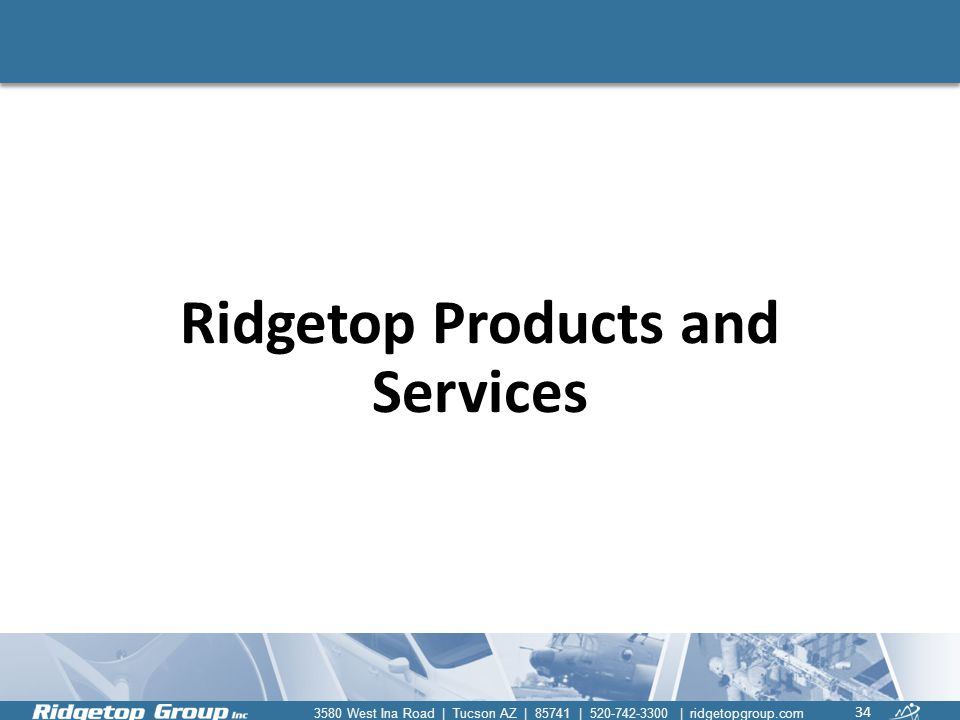 Ridgetop Products and Services