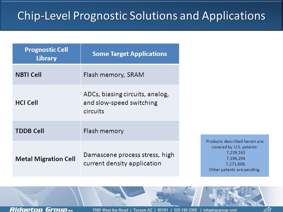 Chip-Level Prognostic Solutions and Applications