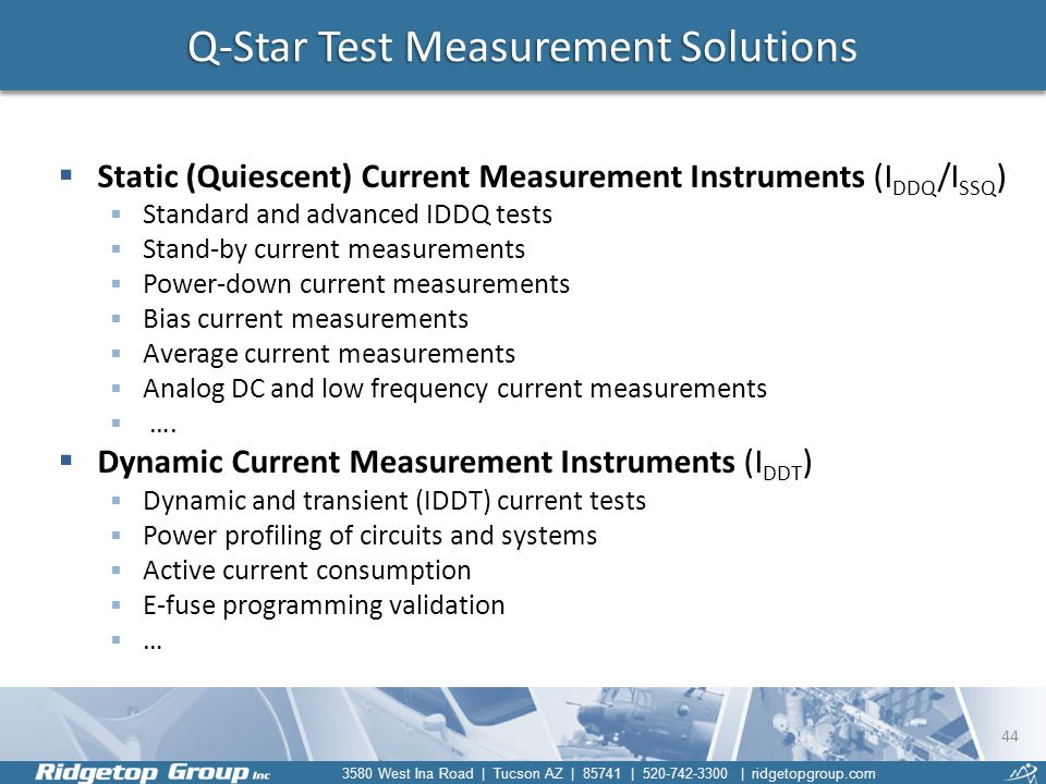 Q-Star Test Measurement Solutions