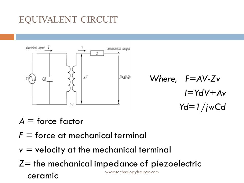 F = force at mechanical terminal