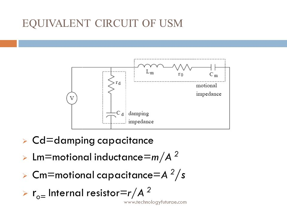 Equivalent circuit of USM