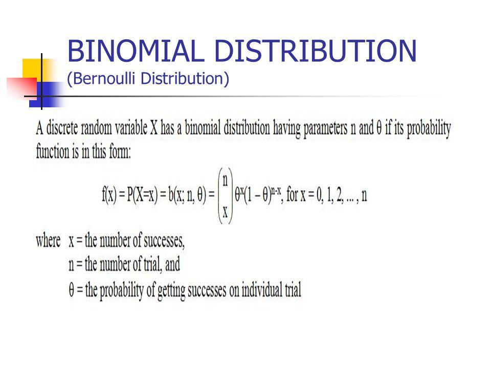 BINOMIAL DISTRIBUTION (Bernoulli Distribution)