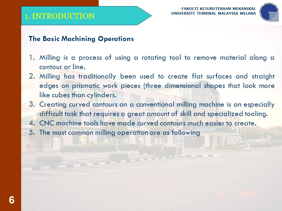 The Basic Machining Operations