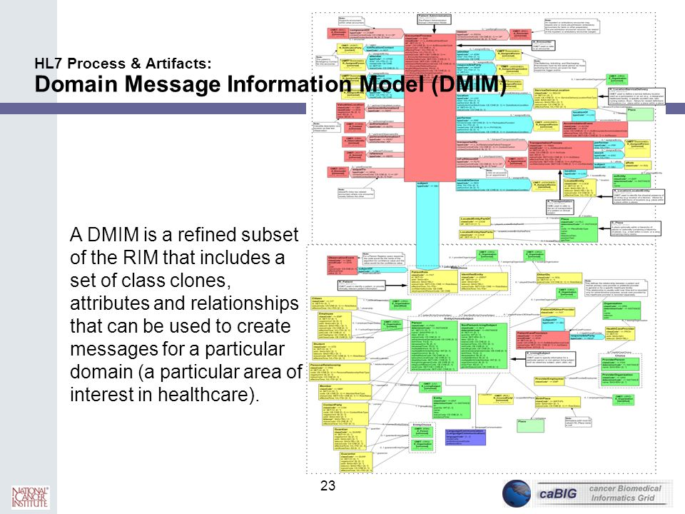 HL7 Process & Artifacts: Domain Message Information Model (DMIM)