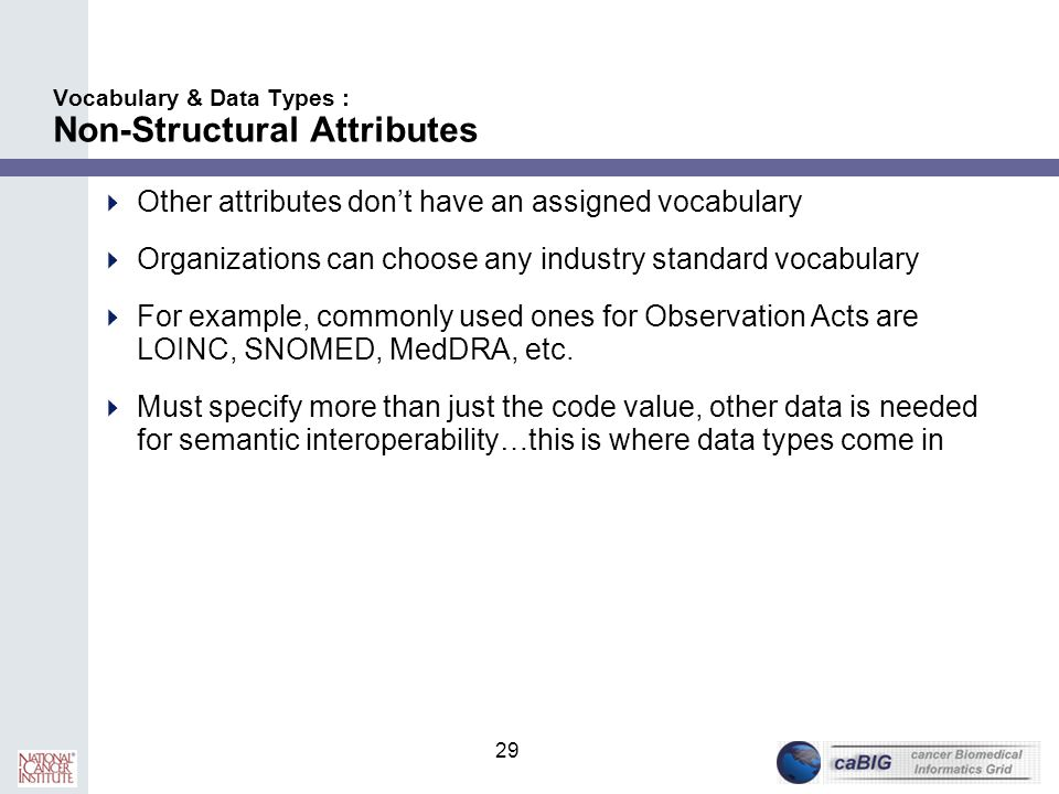 Vocabulary & Data Types : Non-Structural Attributes