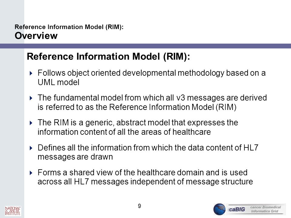 Reference Information Model (RIM): Overview