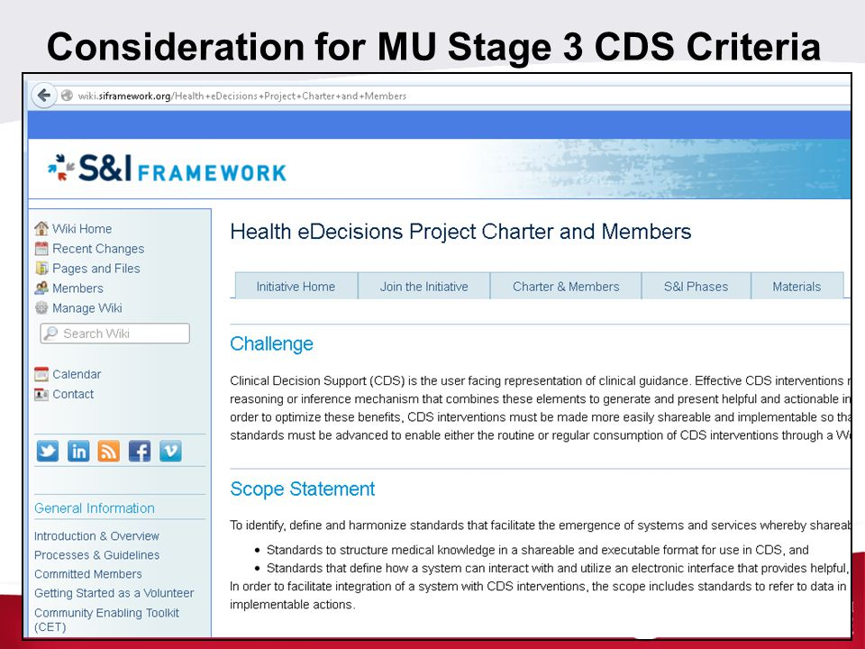 Consideration for MU Stage 3 CDS Criteria