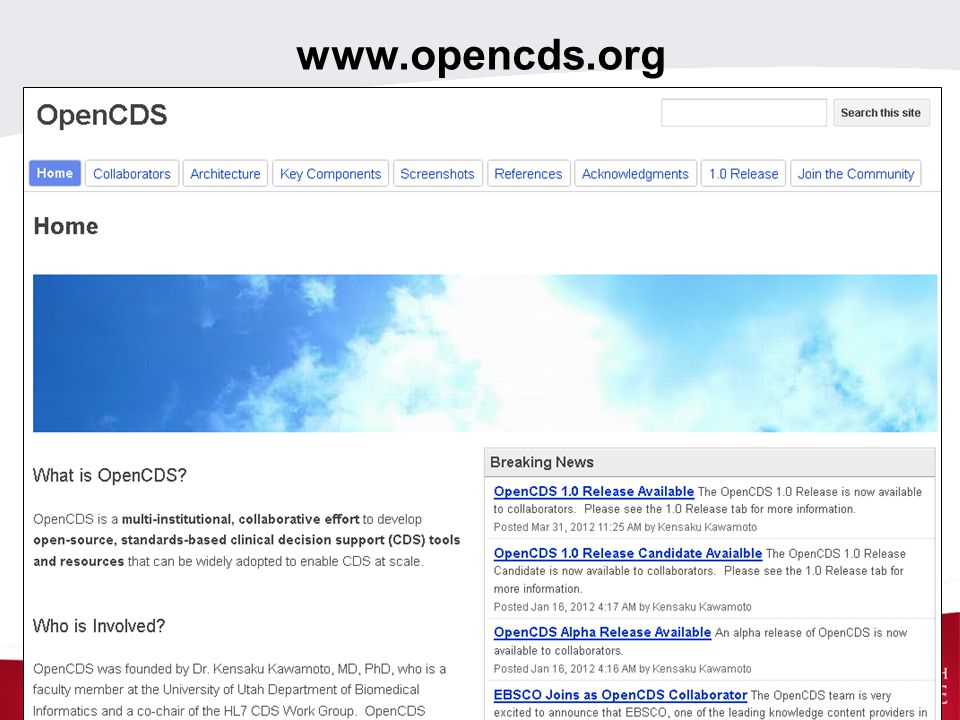 www.opencds.org SCT 14May