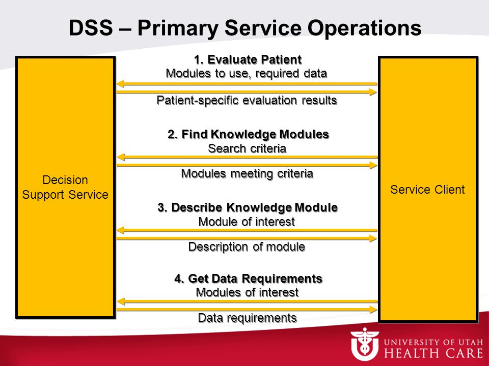 DSS – Primary Service Operations