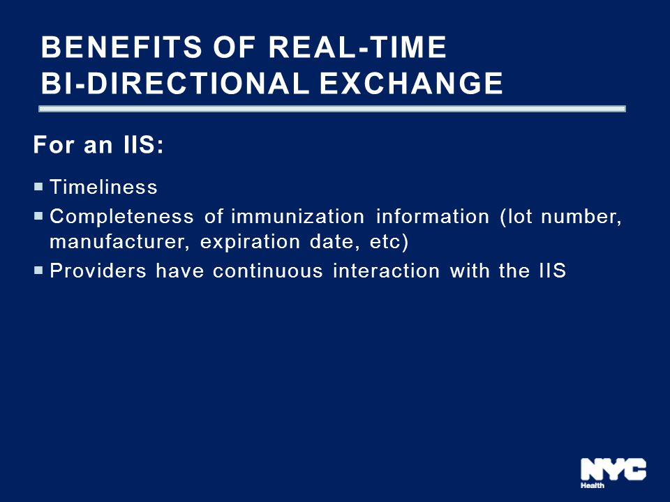 Benefits of real-time bi-directional exchange