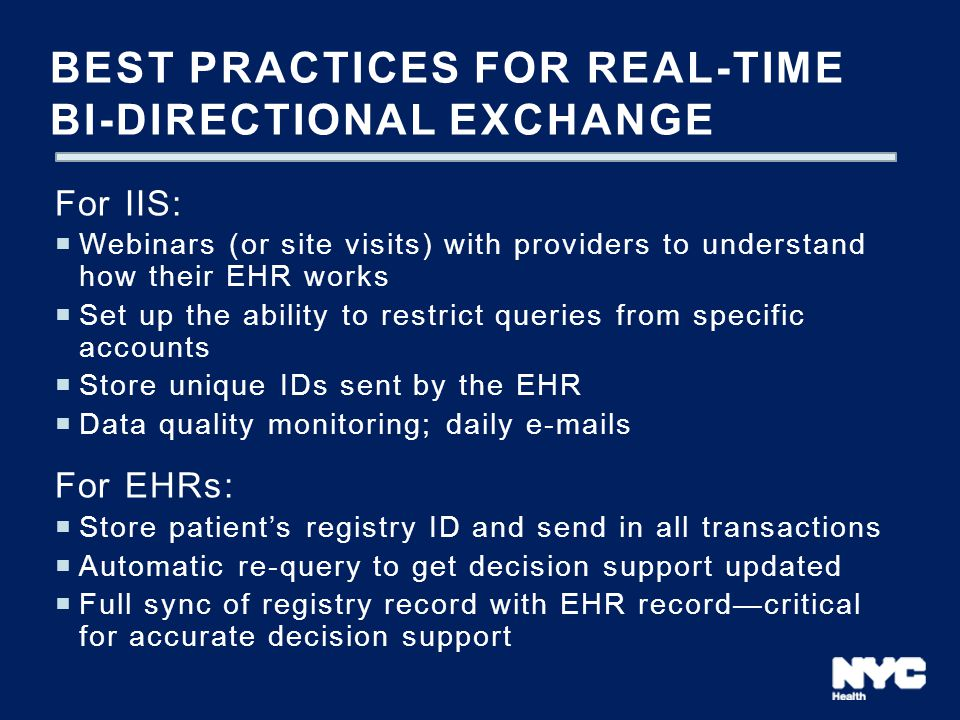 Best practices for real-time bi-directional exchange