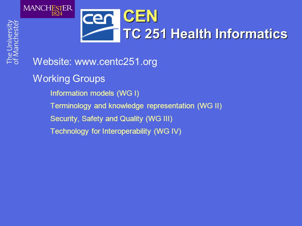 CEN TC 251 Health Informatics