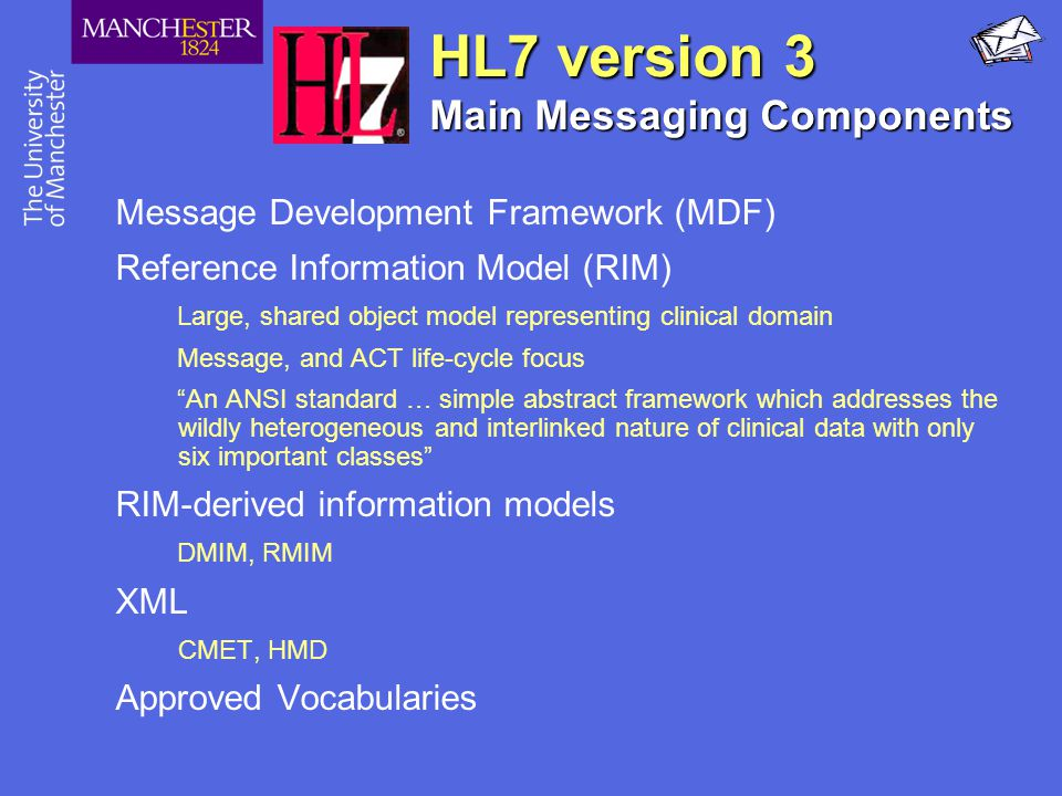 HL7 version 3 Main Messaging Components