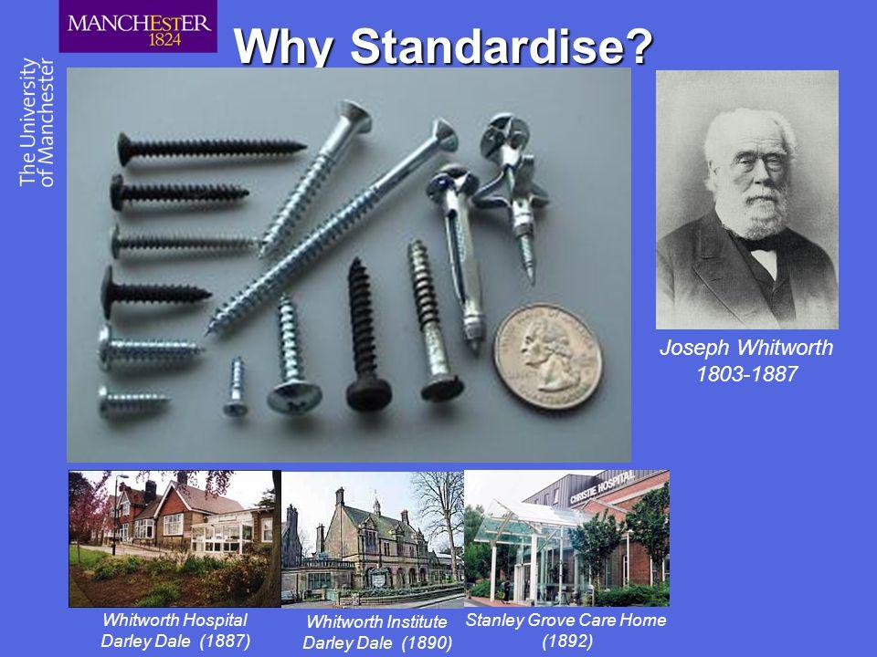 Why Standardise Joseph Whitworth 1803-1887