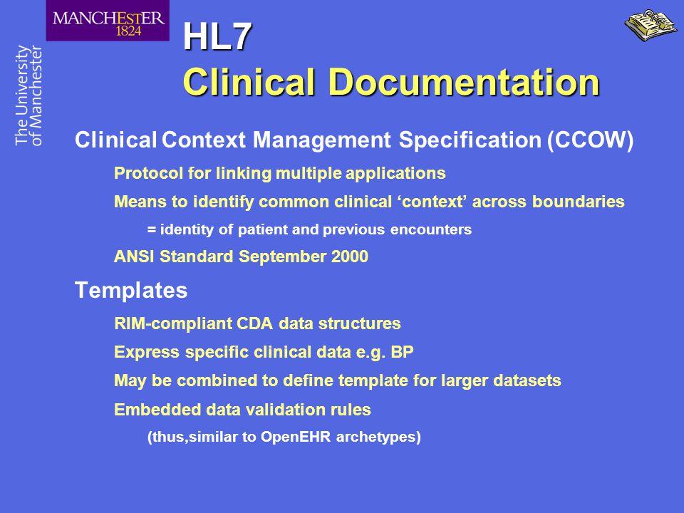 HL7 Clinical Documentation