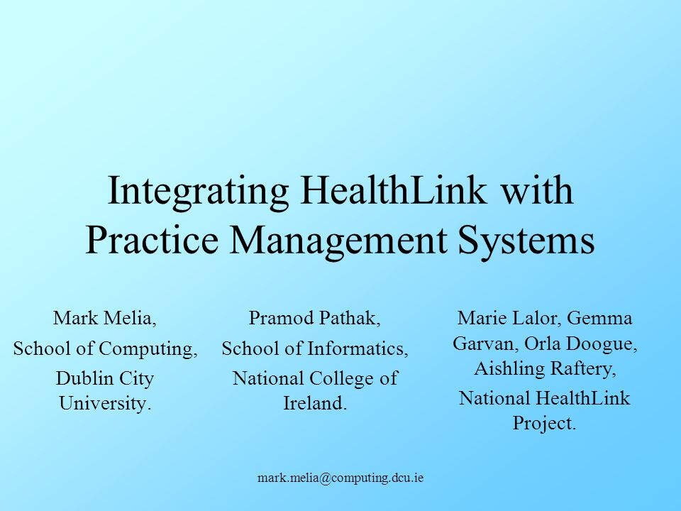 Integrating HealthLink with Practice Management Systems