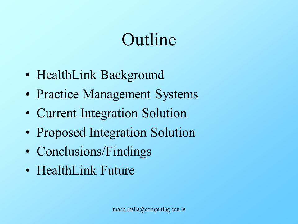 Outline HealthLink Background Practice Management Systems