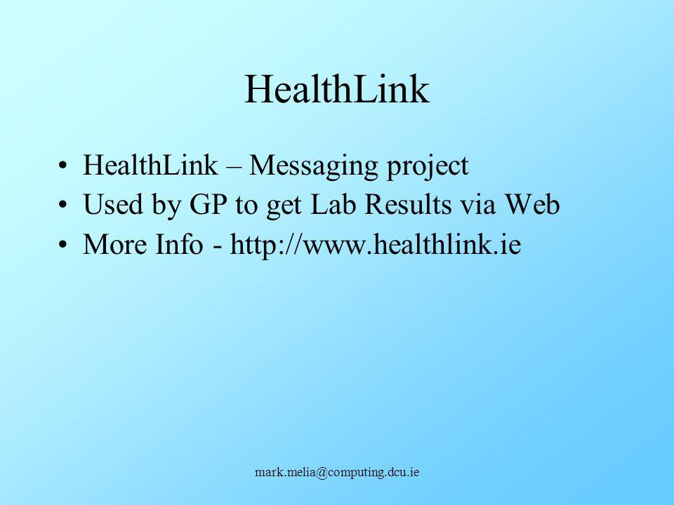 HealthLink HealthLink – Messaging project