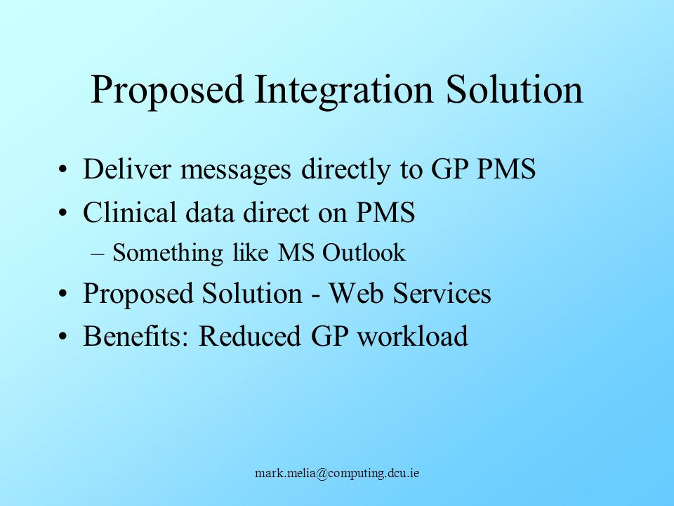 Proposed Integration Solution