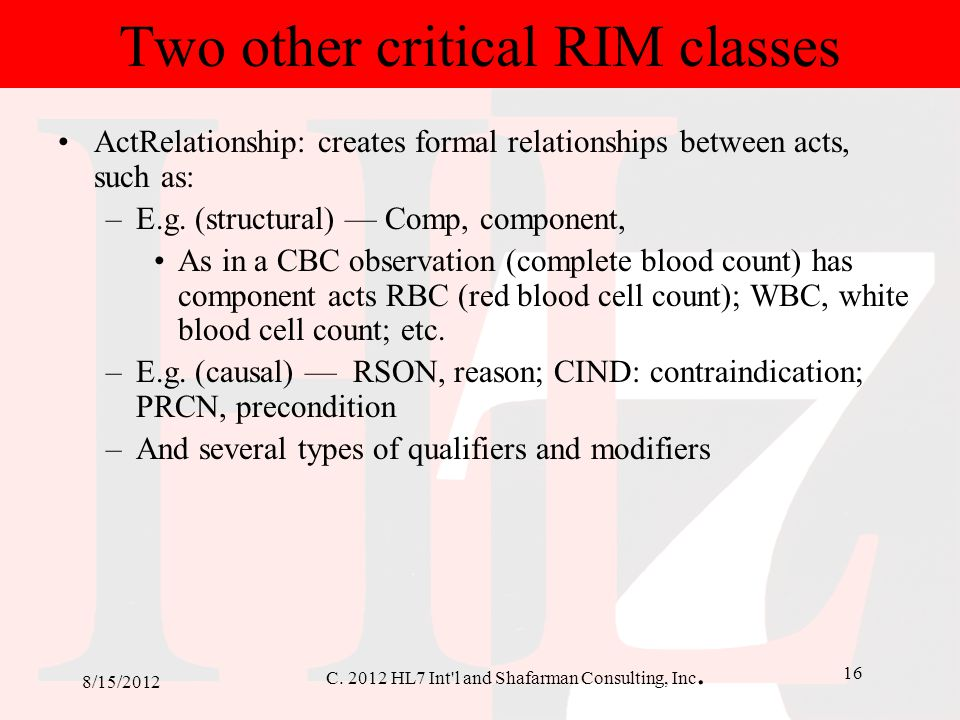 Two other critical RIM classes