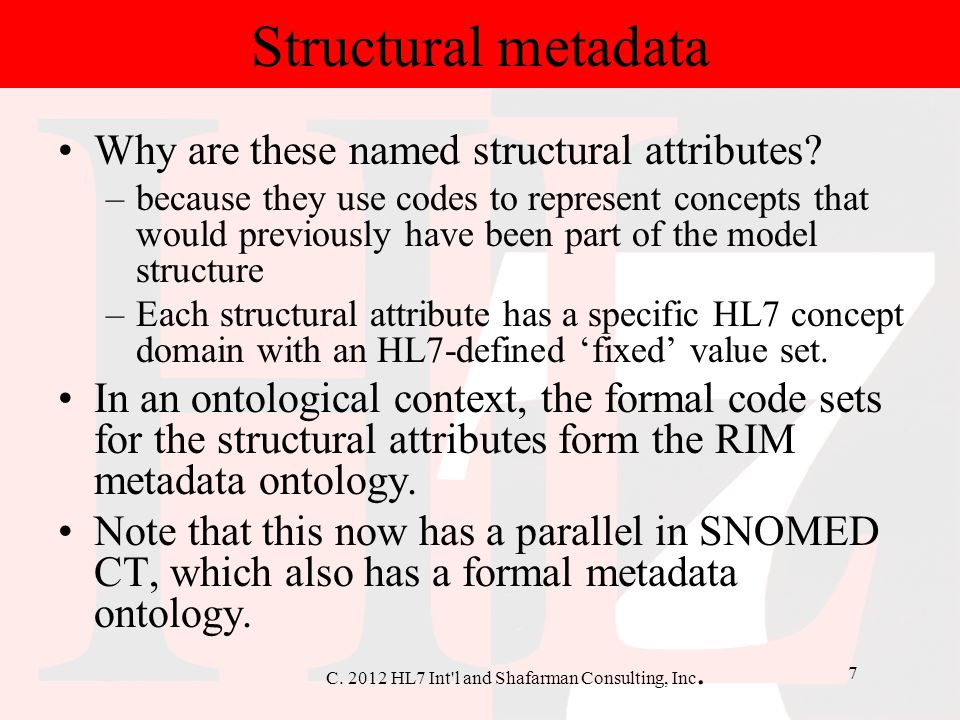 Structural metadata Why are these named structural attributes