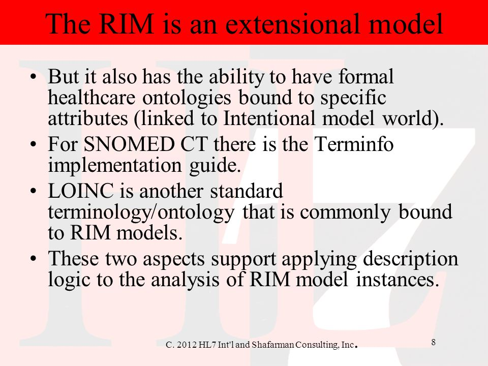 The RIM is an extensional model
