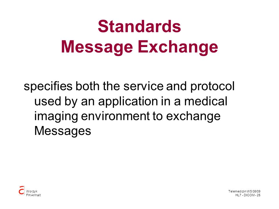 Standards Message Exchange