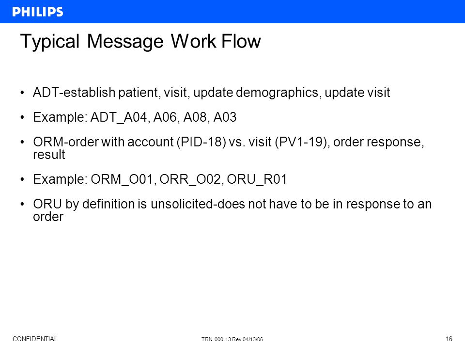 Typical Message Work Flow