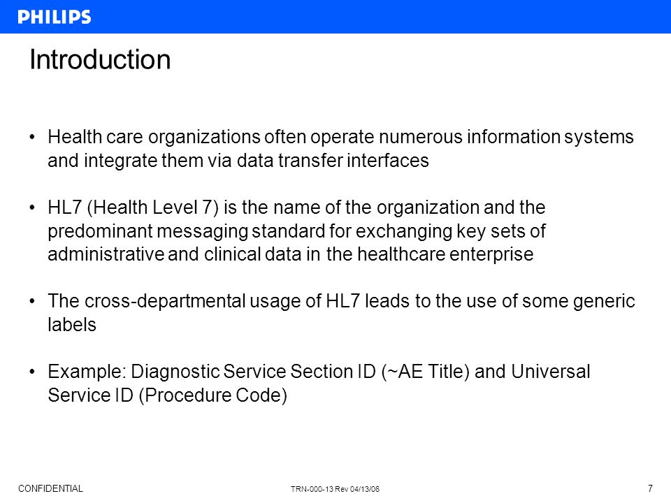 Introduction Health care organizations often operate numerous information systems and integrate them via data transfer interfaces.