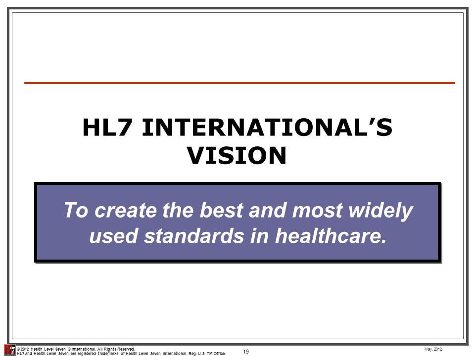 HL7 International's Vision