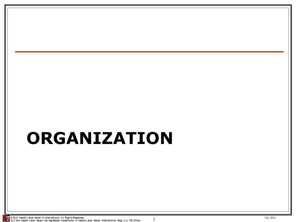 Organization May, 2012