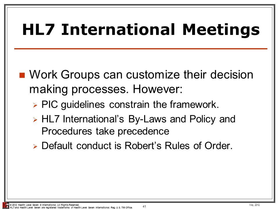 HL7 International Meetings