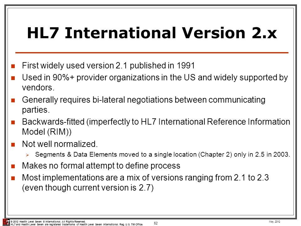 HL7 International Version 2.x