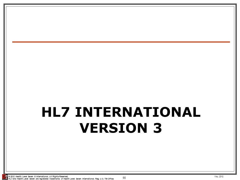 HL7 International Version 3