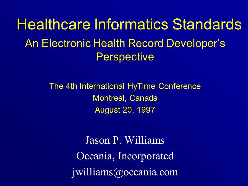Healthcare Informatics Standards