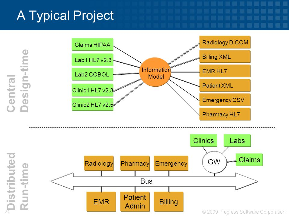 A Typical Project Design-time Central Distributed Run-time Clinics
