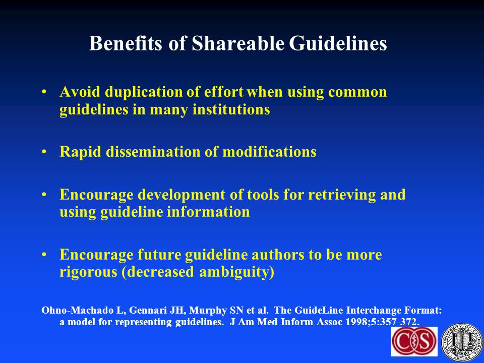 Benefits of Shareable Guidelines