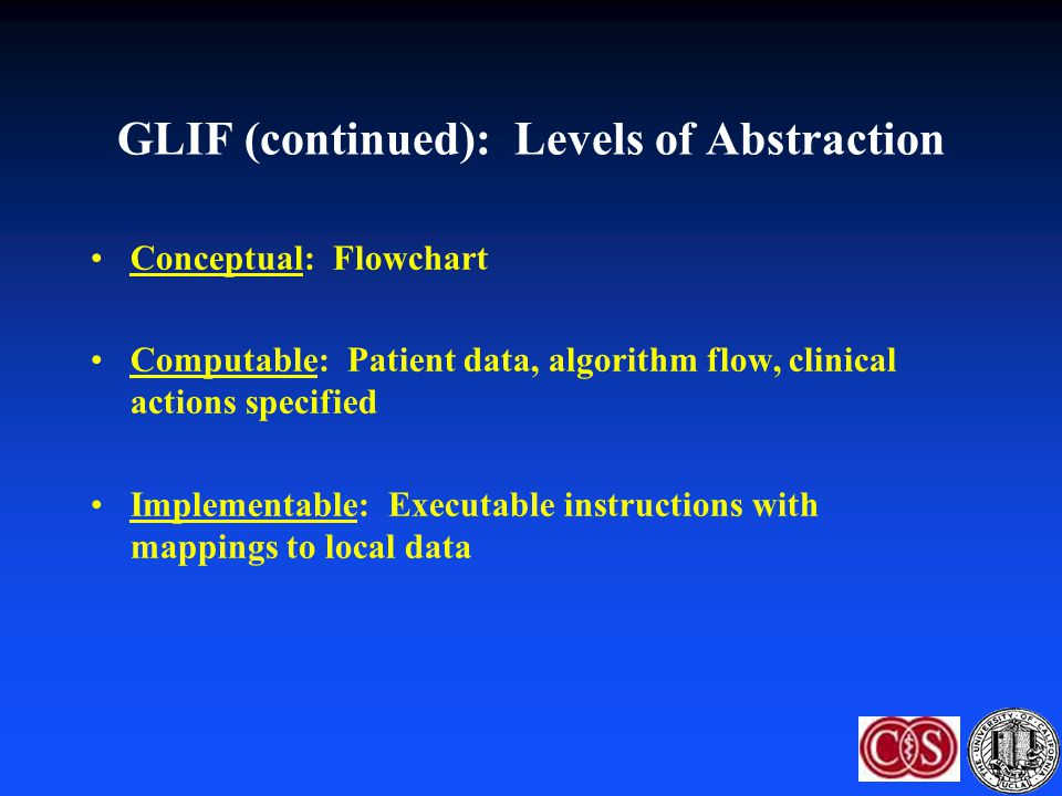 GLIF (continued): Levels of Abstraction