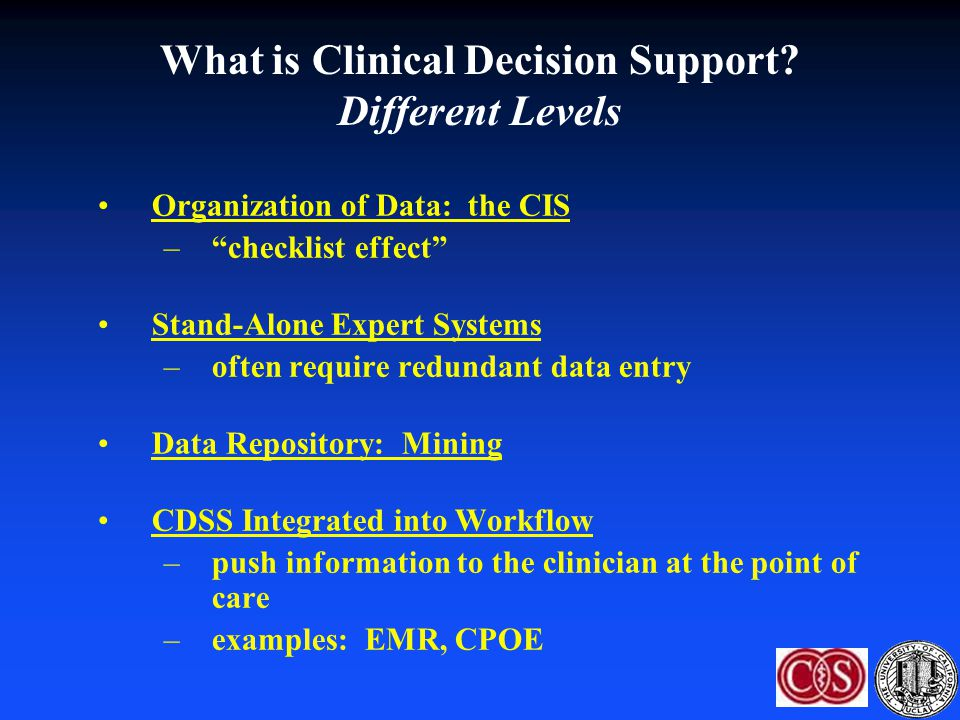 What is Clinical Decision Support Different Levels