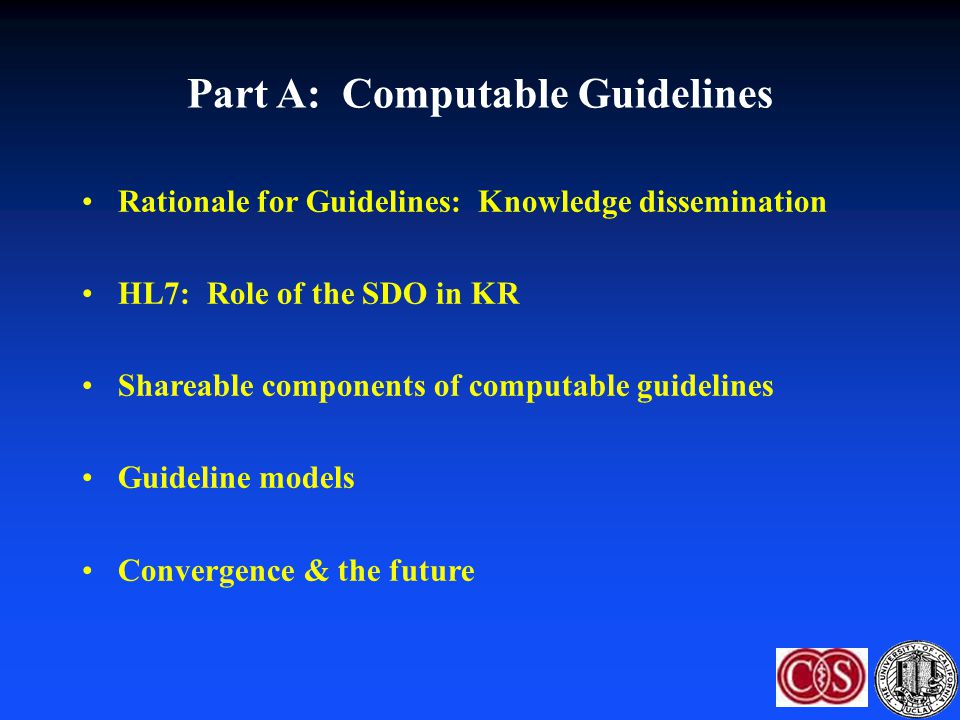 Part A: Computable Guidelines
