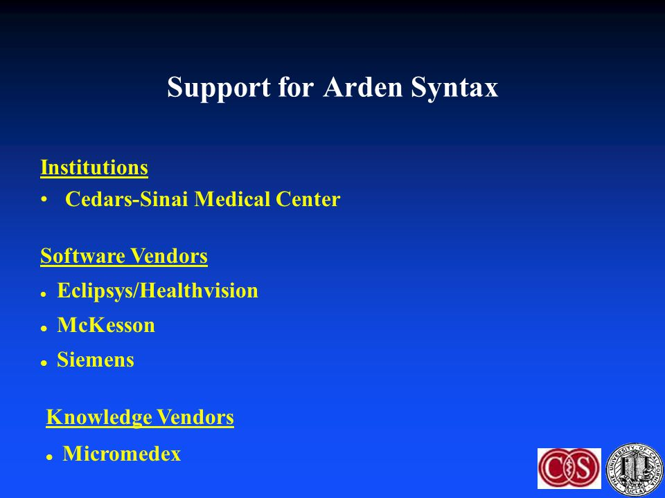 Support for Arden Syntax
