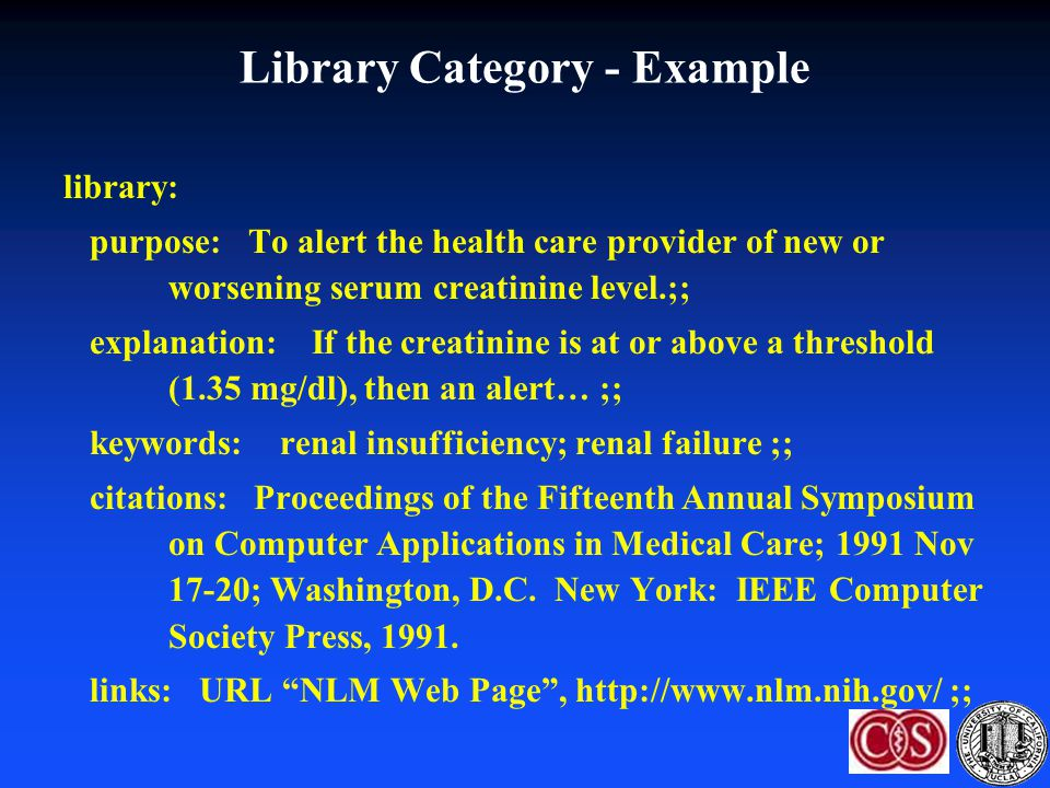 Library Category - Example